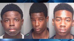 Photos of the three suspects — Joshua Reddin, Julian McKnight, and Lloyd Khemradj  as reported by WFLA TV News